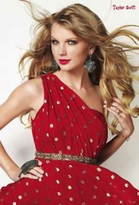 Taylor Swift Red Dress Poster