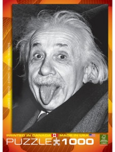 Albert Einstein Tongue 1000 Piece Puzzle