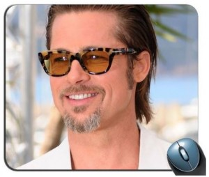 Brad Pitt Sunglasses Mouse Pad