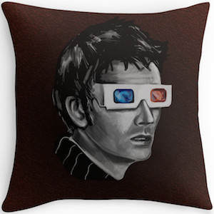 David Tennant 3D Glasses Throw Pillow