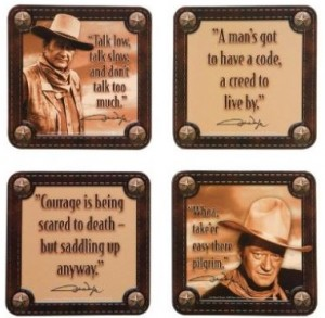 4 Piece John Wayne Coaster Set