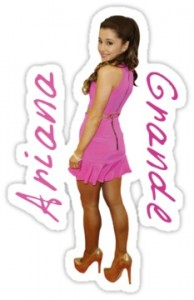Ariana Grande Pink Dress Sticker