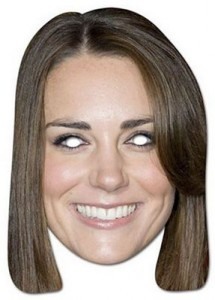 Kate Middleton Cardboard Mask
