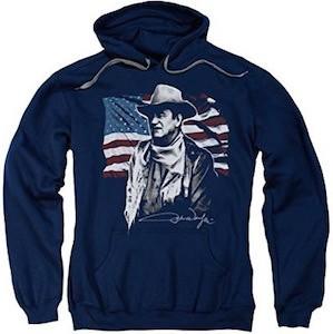 John Wayne American Flag Hoodie