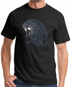 Marilyn Monroe Face Sequins T-Shirt