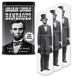 Abraham Lincoln Bandages With Collector Tin