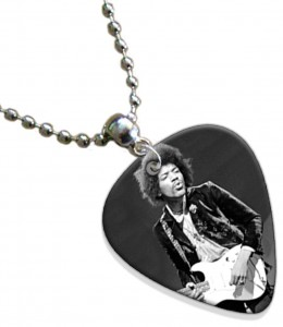 Jimi Hendrix Guitar Pick Necklace