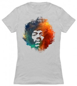 Jimmy Hendrix Face Nebula T-Shirt
