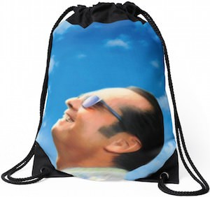 Jack Nicholson Drawstring Backpack