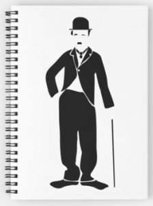 Charlie Chaplin Black And White Spiral Notebook