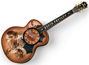 Elvis Presley Guitar Wall Clock