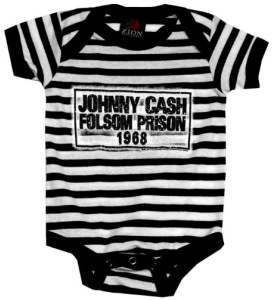 Johnny Cash Folsom Prison Baby Onepiece Snapsuit