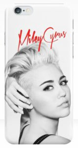 Miley Cyrus Short Hair Red Name iPhone Case