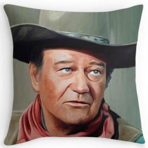 Colored John Wayne Throw Pillow