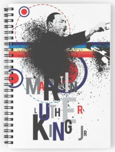 Colorful Martin Luther King Jr. Spiral Notebook