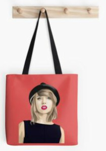 Red Painted Taylor Swift Tote Bag