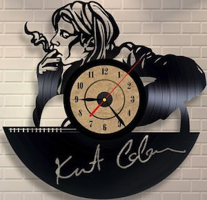 Kurt Cobain Vinyl Record Wall Clock