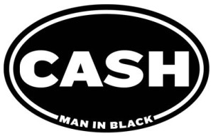 Cash Man In Black Sticker Decal