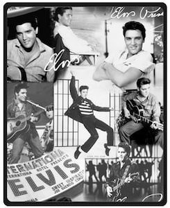 Elvis Presley Photo Blanket