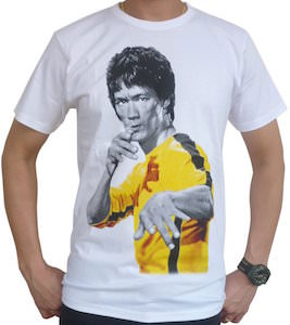 Bruce Lee Fill In Color T-Shirt