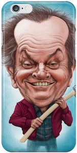 Jack Nicholson Caricature iPhone Case