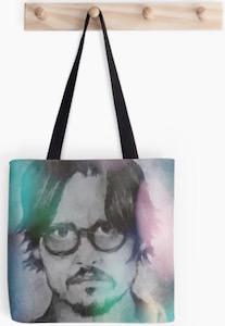 Johnny Depp Polygon Tote Bag