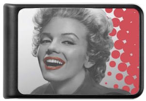 Marilyn Monroe red Dots Power Bank