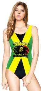 Bob Marley Colorful Monokini