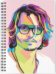 Johnny Depp Portrait Spiral Notebook