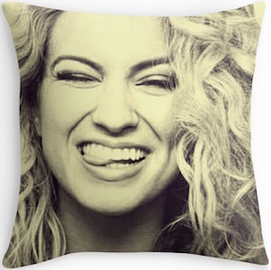 Tori Kelly Biting Her Tongue Throw Pillow