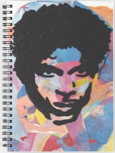 Prince Spiral Notebook with his portrait on it