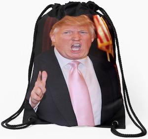 Donald Trump Drawstring Bag