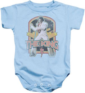 Elvis The King Baby Bodysuit