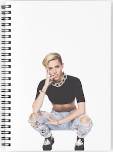 Miley Cyrus Ripped Jeans Notebook