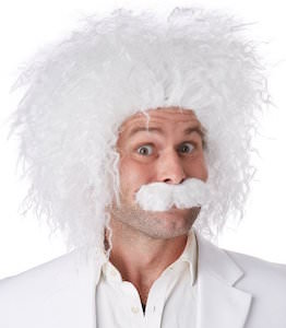 Albert Einstein Wig And Moustache Set For Halloween