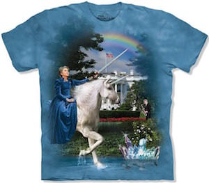 Hillary Clinton Riding A Unicorn T-Shirt