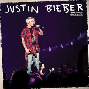 2017 Justin Bieber Wall Calendar