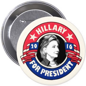2016 Hillary For President Button
