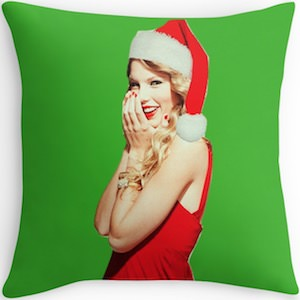 Taylor Swift Christmas Pillow