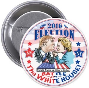 Trump VS Clinton Pinback Button