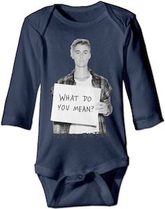 Justin Bieber What Do You Mean Baby Bodysuit