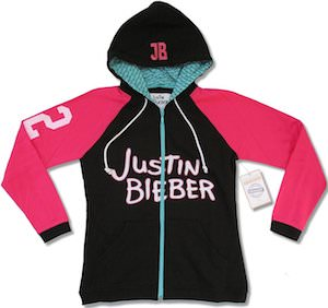 Justin Bieber Zip Up Hoodie