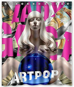 Lady Gaga Artpop Album Cover Shower Curtain