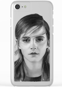 Emma Watson Clear Portrait iPhone Case