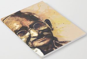 Portrait Of Gandhi Notebook