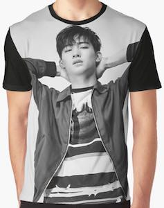 Jackson Wang Black And White Photo T-Shirt