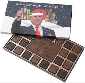 President Trump Christmas Chocolates