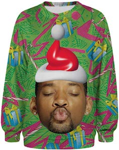 Kissing Will Smith Christmas Sweater