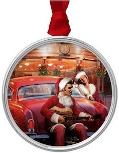 Marilyn Monroe and Elvis Christmas Ornament