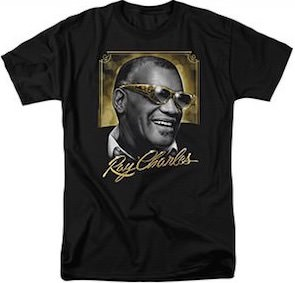 Ray Charles In Gold T-Shirt